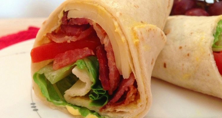Have The Ladies Over For Lunch And Make These BLT Wraps