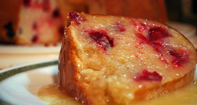 """Aunt Edna's Cranberry Cake With Lemon Butter Sauce Will Have You Saying, """"Wahoozle!"""""""
