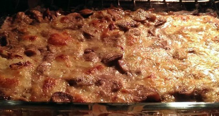 Settle In For Some Spinach Parmesan Mushroom Casserole
