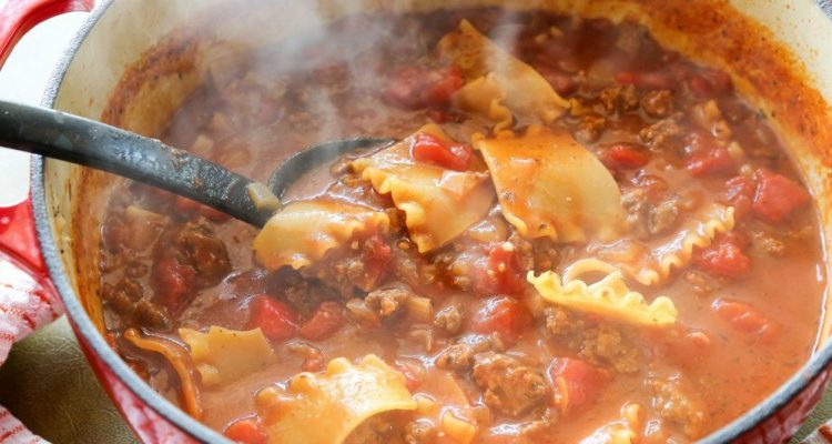 Luigi's Lip-Licking Lasagna Soup Will Have You Clicking Your Heels
